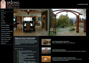 Dejong and Sons Construction website
